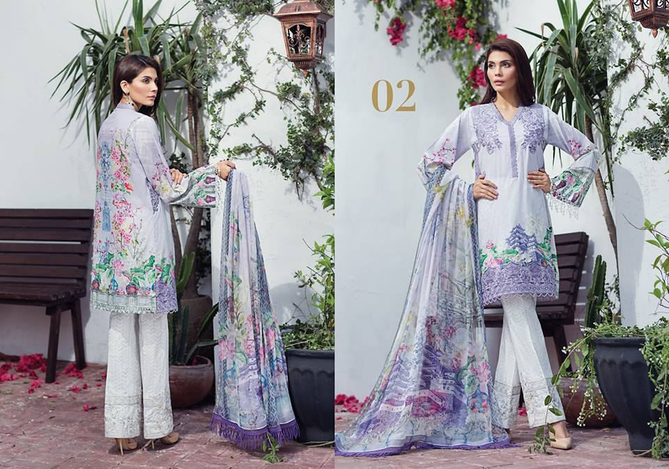Baroque Jazmin Embroidered Chiffon Summer Collection Vol-2 2018