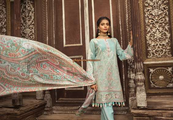 Gulzar Embroidered Lawn Collection 2018 By IVY Prints