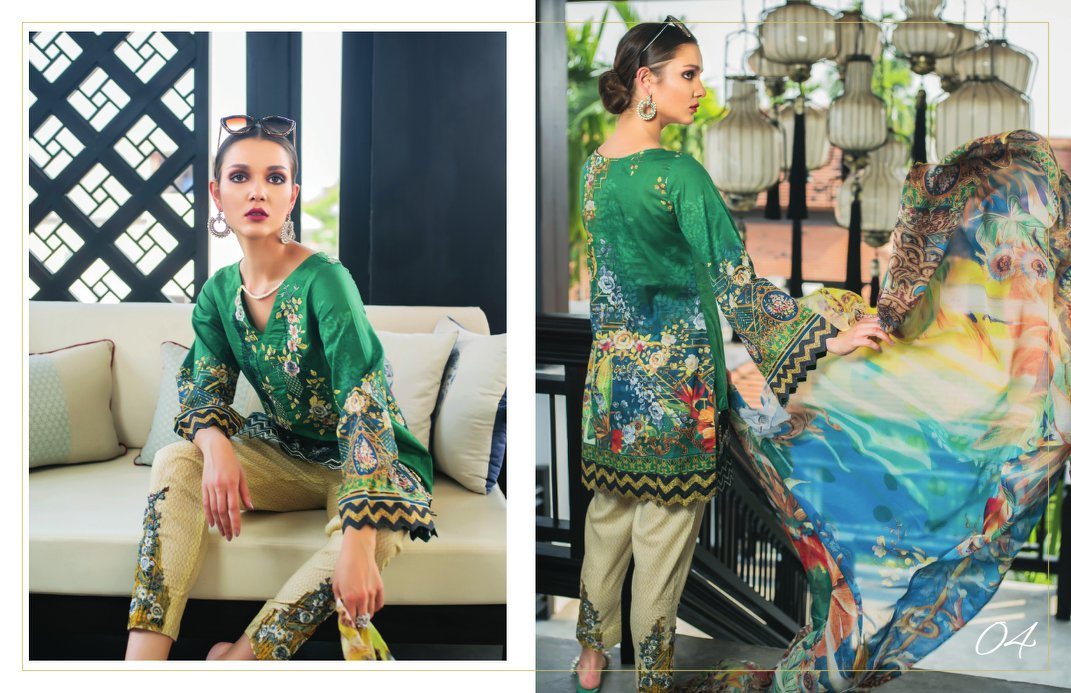 Karam Embroidered Lawn Collection 2018 by Jubilee Textiles