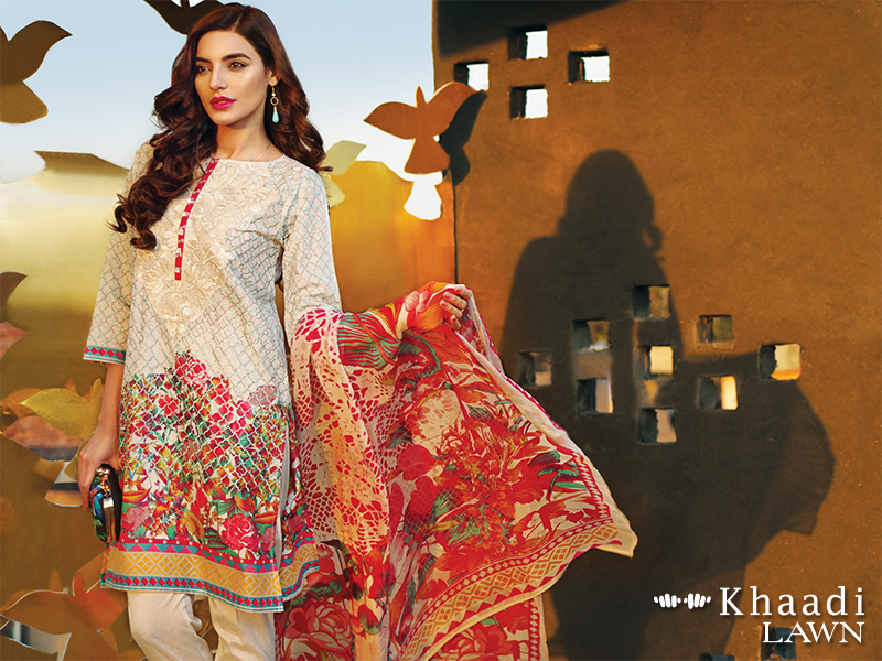 Khaadi 3-PCs Embroidered Lawn Collection 2018 Vol-2