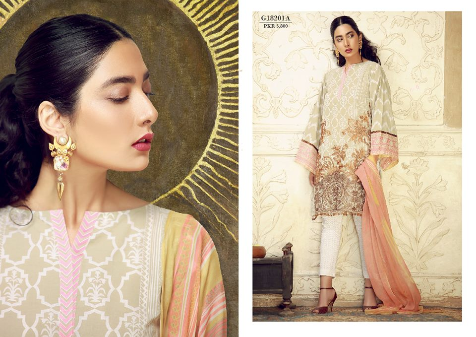Khaadi Lawn Summer Collection 2018- Of Leaves