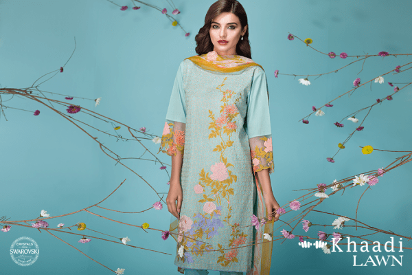 Khaadi Lawn Summer Collection 2018 - Sun-bleached Neutrals