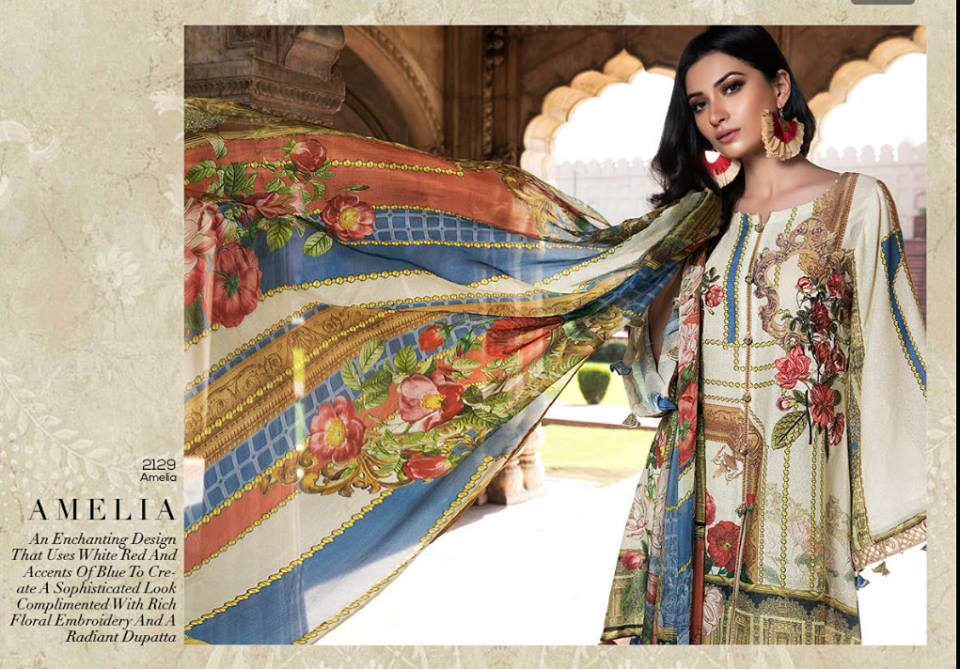 Motifz Embroidered Luxury Lawn Dresses Collection 2018 Vol-3