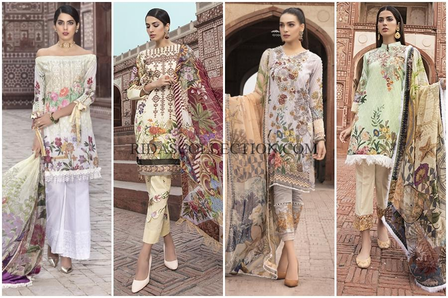 Naqsh Embroidered Summer Lawn Collection 2018 Vol-01 by Shaista