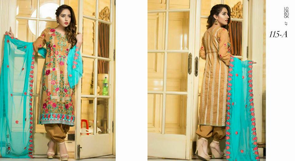 Parisha Luxury Embroidered Summer Collection Vol-8 2018 by Rujhan