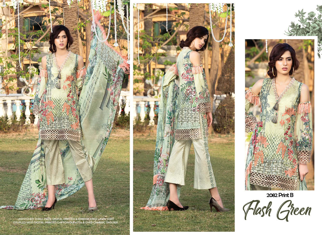 Rangol Embroidered Lawn Collection 2018 by Motifz